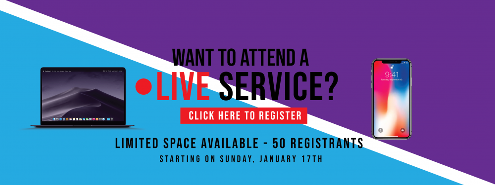 Register to Attend a Live Service