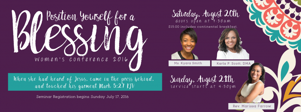 Women's Conference 2016: Position Yourself for a Blessing