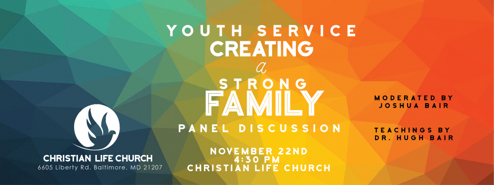 Youth Service Creating a Strong Family Panel Discussion